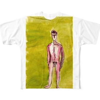 全裸の魂しい Full graphic T-shirts