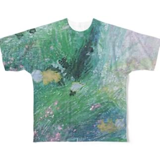水面のミルフィーユ Full graphic T-shirts