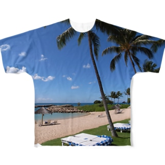 Hawaii beach Full graphic T-shirts