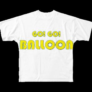 羽鷺のGOGO Balloon Full graphic T-shirts
