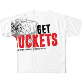 「GET BUCKETS」 PERFORMANCE TEE Full graphic T-shirts
