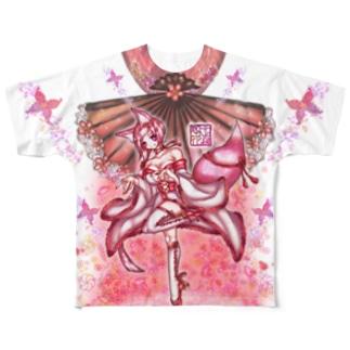 「舞庭」Series * Mai.Inari..❁ フルグラフィックTシャツ