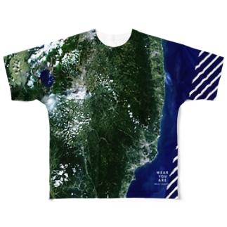福島県 田村郡 Tシャツ 片面 Full graphic T-shirts