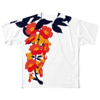 凌霄花 フルグラフィックTシャツ
