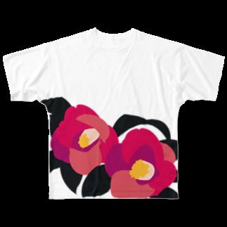 日下田の侘助 Full graphic T-shirts