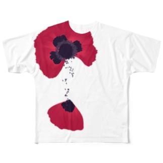 罌粟 フルグラフィックTシャツ