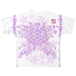 「花籠」Series * butterflyhearts Full graphic T-shirts