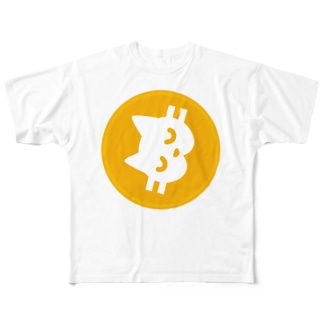 貸そう通貨 ネムねむニャん子コイン Full graphic T-shirts