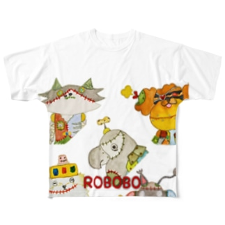 ROBOBO「CDジャケット風」 Full graphic T-shirts