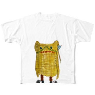 ズタ袋ネコ Full graphic T-shirts