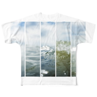 「wave」 Full graphic T-shirts