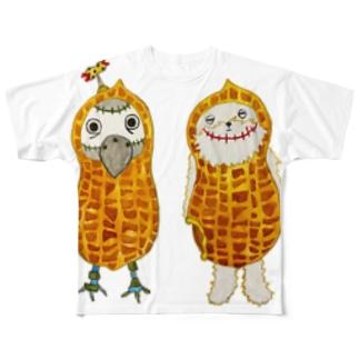 ROBOBO ピーナッツ Full graphic T-shirts