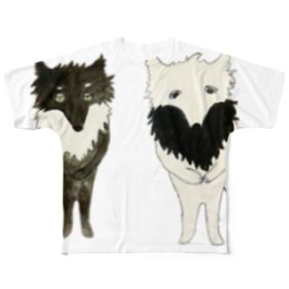 オオカミ ネムスケとネボスケ Full graphic T-shirts