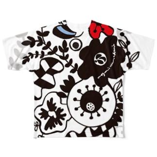 FLOWER GARDEN フルグラフィックTシャツ