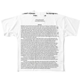 仮想通貨 Byteball バイトボール フルグラフィックTシャツ