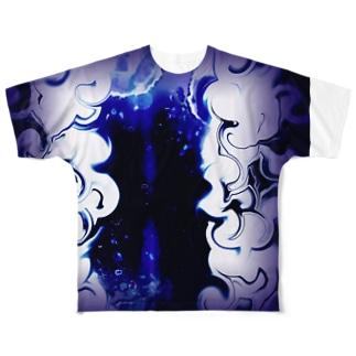深海 フルグラフィックTシャツ