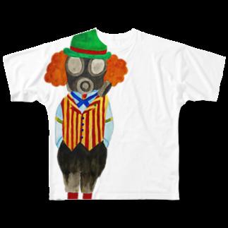 ねこぜや のガジュマルスチームパンク Full graphic T-shirts