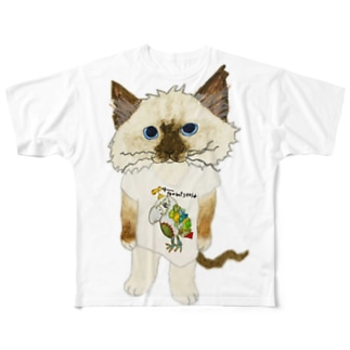 ROBOBOのファン猫 Full graphic T-shirts