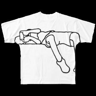 GO STORES   のTー1 フルグラフィックTシャツ