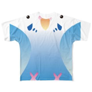 セキセイインコ オパーリン 女子 Full graphic T-shirts
