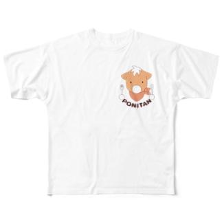 ポニたん(カラー) Full graphic T-shirts