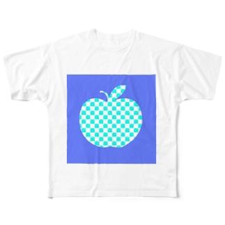 青いリンゴ Full graphic T-shirts
