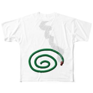 夏だ。蚊取り線香 Full graphic T-shirts