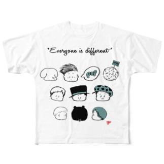 kaotakusan フルグラフィックTシャツ