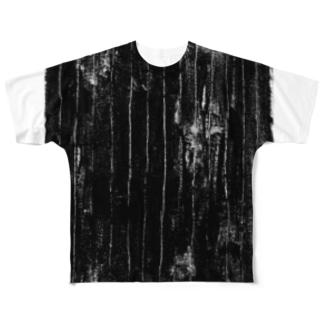 ガサガサストライプB Full graphic T-shirts