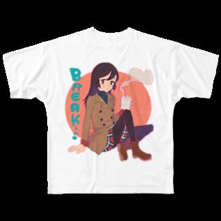 超水道のかわいくNight☆ [BREAK] (フルグラフィック・5000円ver) Full graphic T-shirts