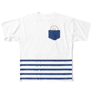 かんザラシ(blue pocket) Full graphic T-shirts