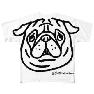 パグちゃん Full graphic T-shirts