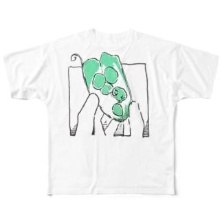 グリンピースのもと Full graphic T-shirts