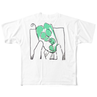 敷島のグリンピースのもと Full graphic T-shirts