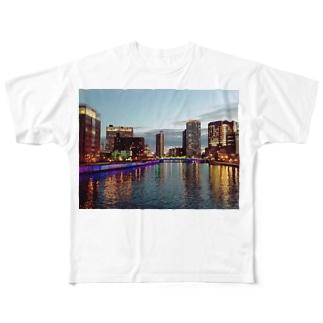 大阪中之島 Full graphic T-shirts