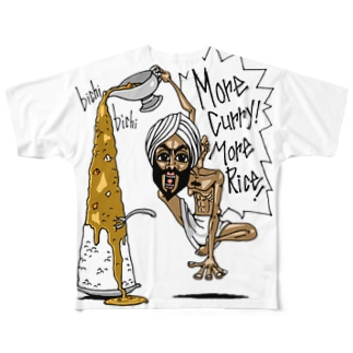 More Curry!More Rice! フルグラフィックTシャツ