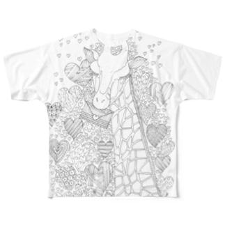 恋文きりん Full graphic T-shirts