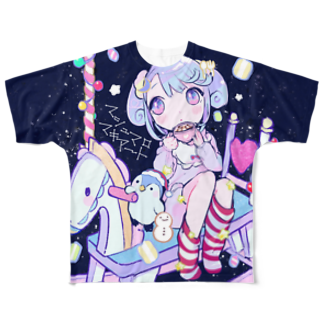 きあとのマシュマロ・マキアート+. Full graphic T-shirts