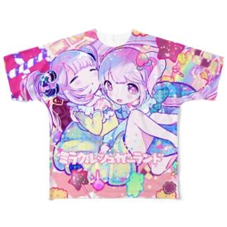 ミラクルシュガーランド+. フルグラフィックTシャツ
