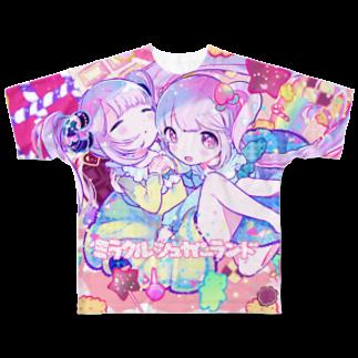 きあとのミラクルシュガーランド+. Full graphic T-shirts
