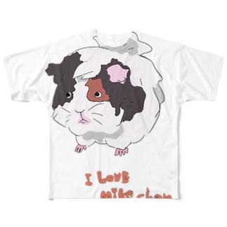 あいらぶみけちゃん Full graphic T-shirts