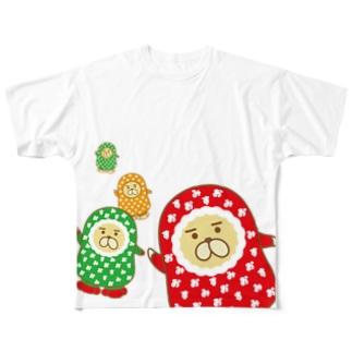 おじゃもんくん冬のアピール フルグラフィックTシャツ
