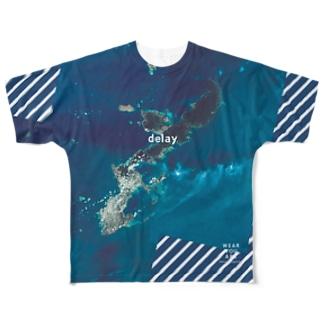 沖縄県 国頭郡 Tシャツ 両面 フルグラフィックTシャツ
