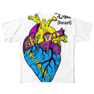 心臓{heart}の値段❤💴 Full graphic T-shirts