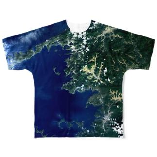 愛媛県 大洲市 Tシャツ 片面 Full graphic T-shirts