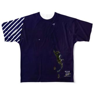 東京都 小笠原村 Tシャツ 片面 Full graphic T-shirts