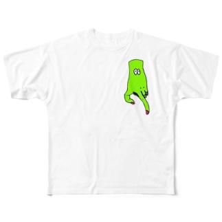 はんどくんがゆく。 フルグラフィックTシャツ