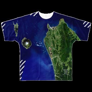 WEAR YOU AREの北海道 天塩郡 Tシャツ 両面 フルグラフィックTシャツ
