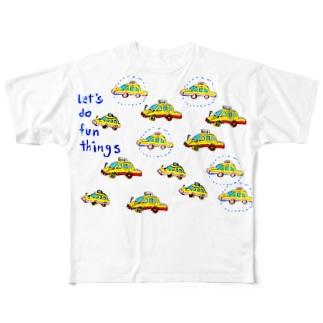 POP ART(TAXI) フルグラフィックTシャツ