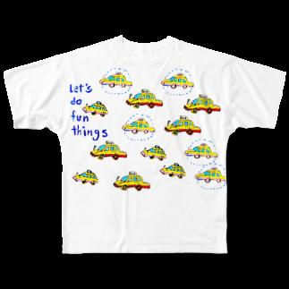 DoiMayumiのPOP ART(TAXI) フルグラフィックTシャツ